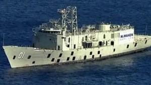 HMAS Adelaide ready to be sunk