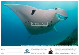 Professional Dive Services - Manta White